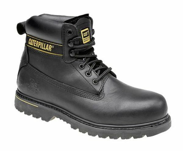 MENS MENS MENS Größe 7 8 9 10 11 12 13 CAT CATERPILLER HOLTON schwarz SAFETY CAP WORK Stiefel d2c5dd