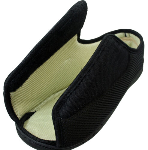 Mens Ladies Open Toe Very Wide E//5E Opens Out Flat Memory Foam Diabetic Slippers
