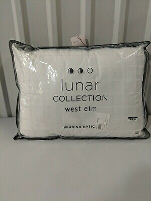 """Throw Pillow 24/""""x24/"""" NEW West Elm Down Alternative Insert White never used"""