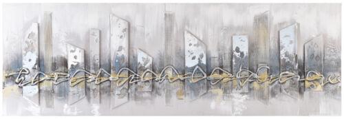 Unique Gris Abstrait Rhombus Cityscape 3D Peint à La Main Photo sur toile 60x180cm