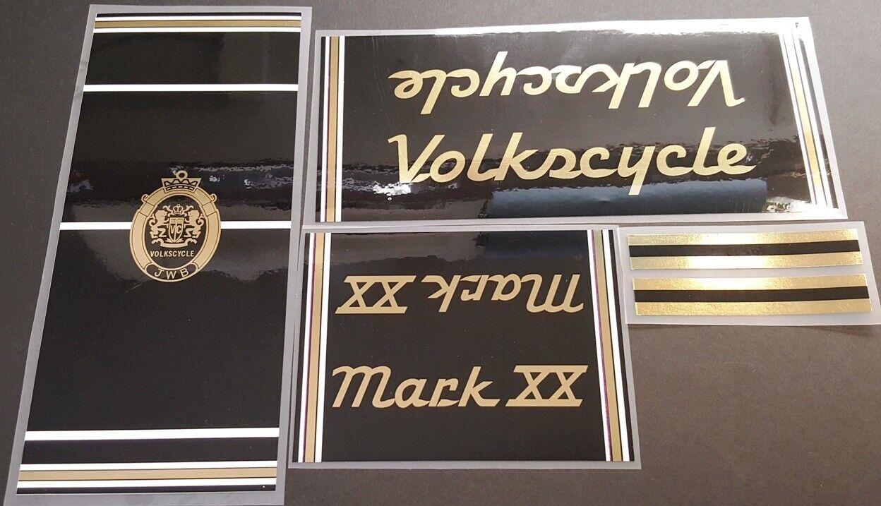 Volkscycle 1980s  Mark XX Bicycle Decal Set (sku Volk-S102)  buy brand