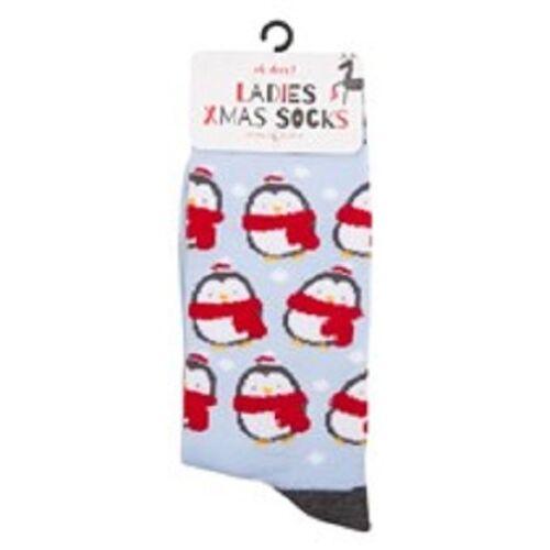 1 Paio Donna Calzini di Natale UK Taglia 4-8//EU Taglia 37-41 Divertente Regalo Di Natale