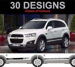 Chevrolet-Captiva-Seitenstreifen-Aufkleber-Sticker-Grafik-Seitenstreifen