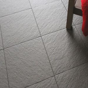 30x30cm Black Porcelain Anti-Slip Riven Floor Tiles + Adhesive ...