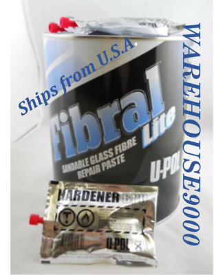 UPOL UP0766 FIBRAL LITE Lightweight Sand-able Fiberglass Repair Can