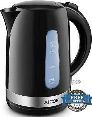 Electric Kettle Tea Coffee Cordless Boiler Heater Brewing Auto Shut Lightweight