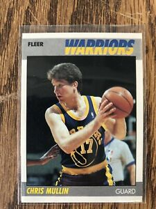 1987-88-FLEER-BASKETBALL-CHRIS-MULLIN-77-MINT-HI-GRADE-Beautiful-Card-Sweet