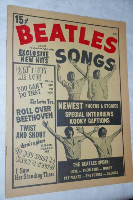 Vintage Beatles Songs 1964  Vol 1 #2 Edition Charlton Magazine Publication