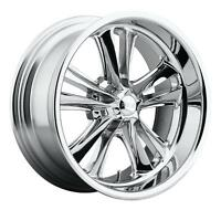 Cpp Foose F097 Knuckle Wheels Rims, 18x8 Front + 18x9.5 Rear, 5x4.75, Chrome