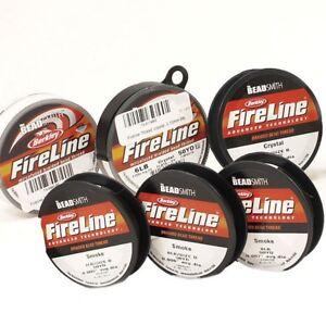 Beadsmith-Fireline-Beading-Thread-4-6-8-lbs-crystal-smoke-50-yard-FREE-SHIP