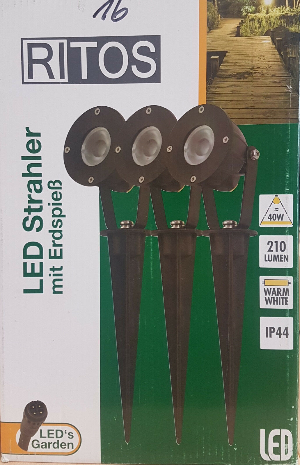 Ritos Garden LED Erdspieß Erdspieß Erdspieß 3 x1W Gartenleuchte Rasenleuchte set 0087431512     | Verpackungsvielfalt  |  Neuer Markt  | Queensland  f96bdc