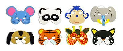 Childrens Foam Animal Masks All Occasions Party Bag Filler Multi Quantity