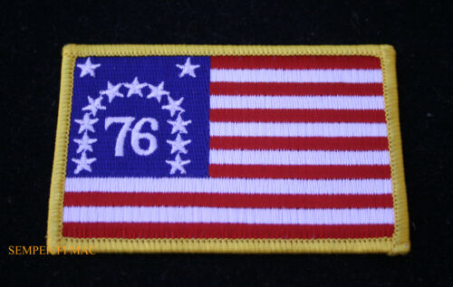 AMERICAN FLAG EMBROIDERED PATCH iron-on BENNINGTON new 1776 USA US applique NEW