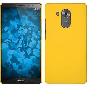 Custodia-Rigida-Huawei-Mate-8-gommata-giallo-pellicola-protettiva