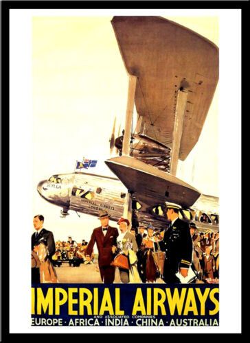 Imperial Airways 1950s A3 vintage retro travel /& railways posters Wall Decor #3