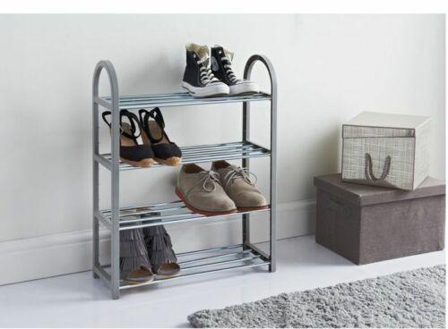 New Contemporary Leo Style 4 Tier Shoe Rack