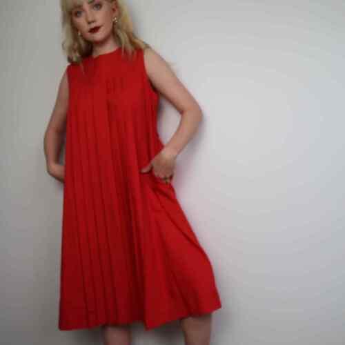 Vintage 60's red tent dress - image 1