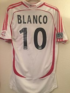 new arrival cf463 e90d0 Details about Blanco Mexico Chicago Fire MLS Soccer Jersey Football Shirt  Men's S