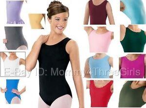 NEW-Capezio-Balera-Tank-Dance-Gymnastics-Leotard-Solid-Colors-Adult-Sizes