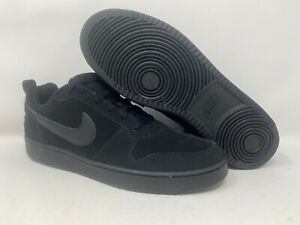 Nike-Court-Borough-Low-Sz-11-5-12-Triple-Black-Casual-Shoes-838937-001-New