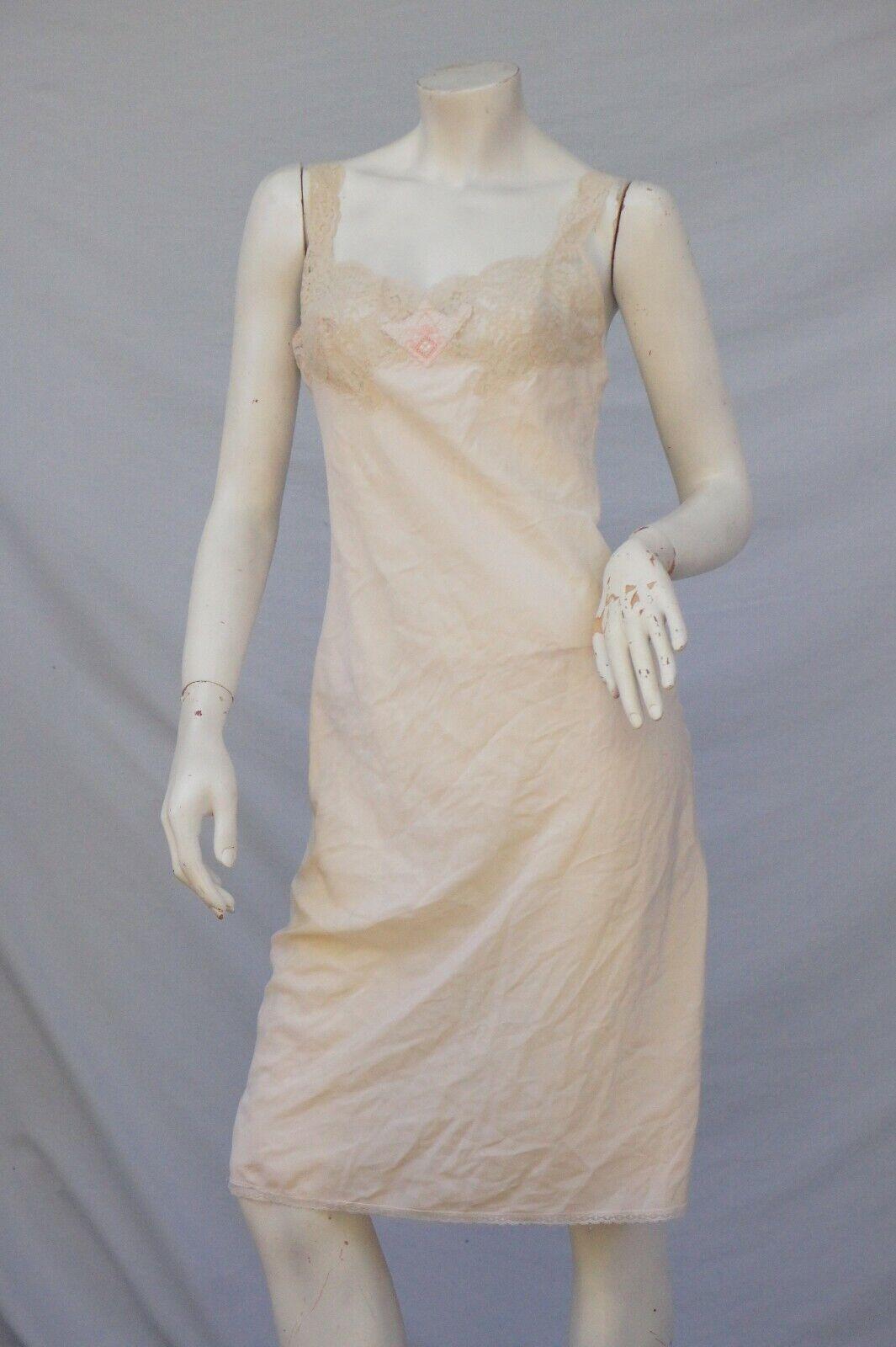 Vintage 40s Lace Trim Slip - image 1