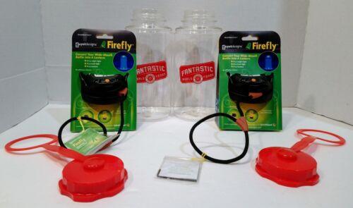 SET of TWO Guyot Designs Firefly™ LED Bottle Lids and TWO Bonus 32 oz Bottles