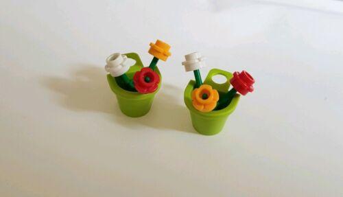 Lego Custom Hanging Baskets Flower Plants x2 New Garden City