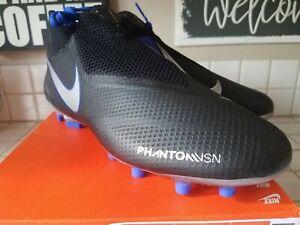 d00fd1464171 Nike Phantom VSN Pro DF FG Black/Silver/Blue AO3266-004 Size 10 | eBay