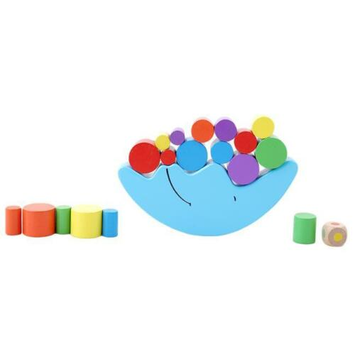 Wooden Moon Shaped Balance Game Stacking Game Toy Fun For Children Boy Girl ONE