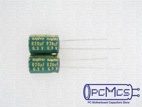 20 Pcs Sanyo WG 6.3V 820UF Ultra Low ESR for VRM Computer Motherboard Capacitor