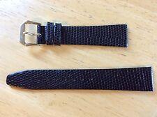NEW KREISLER WATCH BAND BRACELET Lizard Grain Leather Black 19mm 432101-19