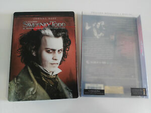 SWEENEY-TODD-2-X-DVD-STEELBOOK-JOHNNY-DEPP-TIM-BURTON-ESPANOL-ENGLISH-AM