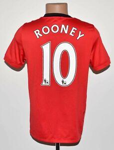 Manchester United 2009/2010 Camisa De Futebol Casa Jersey Nike #10 Rooney Tamanho P