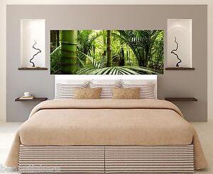 Adesivo testata del letto decorazione da muro foresta bambù ref