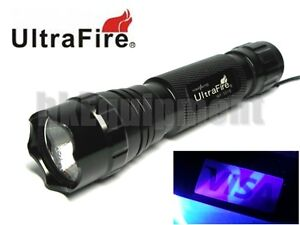 Ultrafire-WF-501B-G60-UV-1w-Ultraviolet-365nm-LED-Torch-Torch