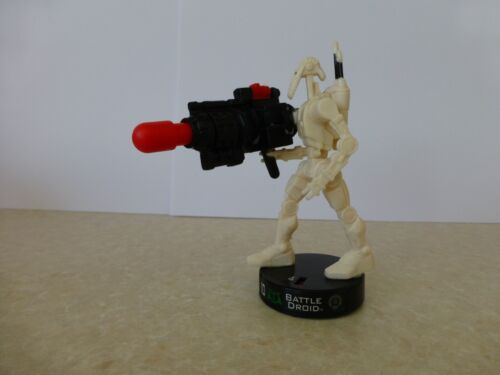 "Attacktix Star Wars Action Figure /""Battle Droid/"" HTF With Missile"