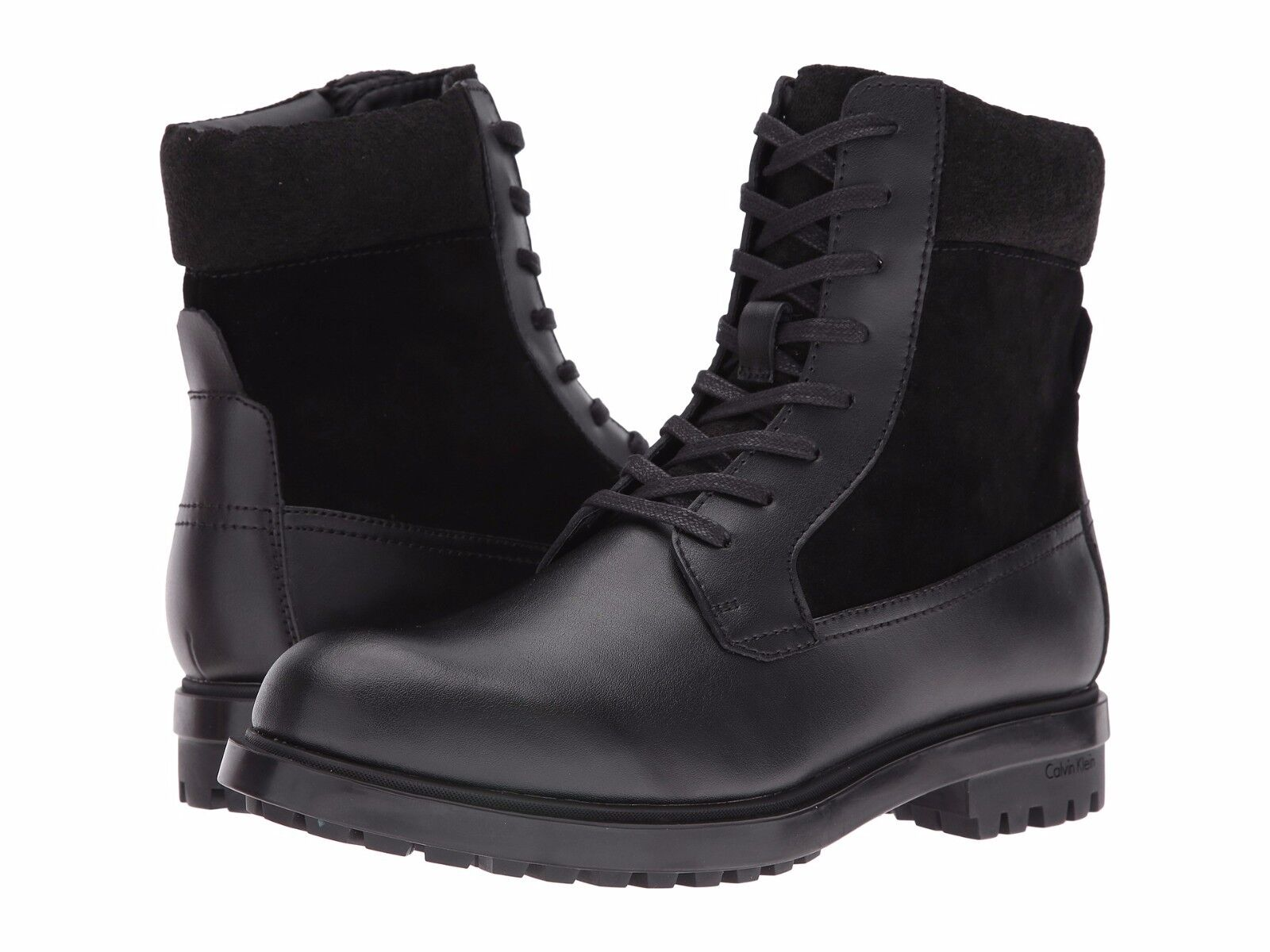 Para hombres Cuero Calvin Klein Klein Klein Gable Bota Negro Sz 9.5 MSRP faa0db