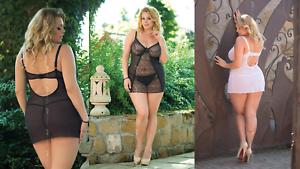 FOR CURVY GIRLS - Plus Size - Sexy Negligee Dessous Babydoll - XL-5XL 46-64