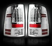 2013-14 Dodge Ram Rear Brake & Reverse White Clear Taillights W/ Brake Led Bulbs