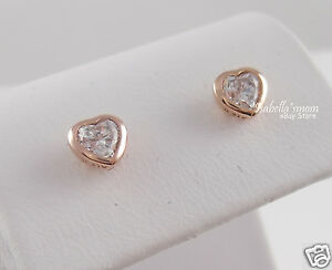 Image Is Loading One Love Authentic Pandora Clear Cz Rose Gold