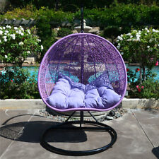 Item 4 LAVENDER Egg Shape Wicker Rattan Swing Chair Hanging Hammock 2  Person  LAVENDER Egg Shape Wicker Rattan Swing Chair Hanging Hammock 2  Person