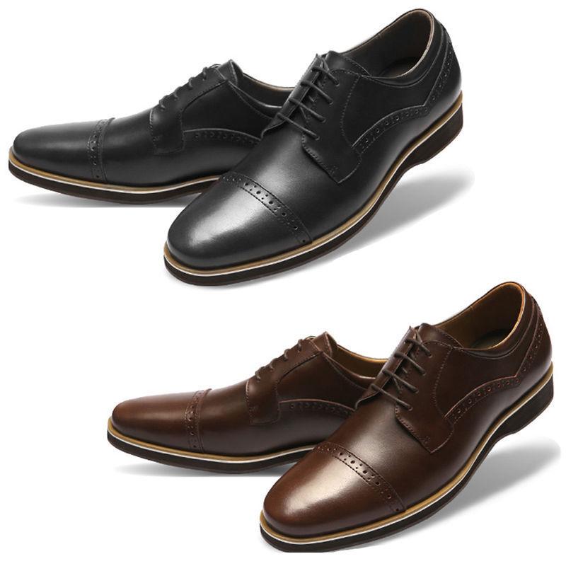 Mooda Mens Leather schuhe Classic Formal Formal Formal Oxfords Dress schuhe DailyL  b6ffaf