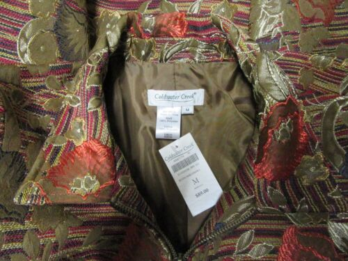 Sz Nwt Rustik Floral Stripe Jacquard Jacket Coldwater 89 M Up Print Creek Zip 5tnXq4