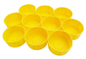 Pack of 10 MDI Protective Plastic Fishing Rod Tubes 2.5in -6.3cm End Caps Yellow