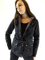 Wax Jacket Brown Fitted Ladies Belted British Cotton Country Walking Outdoor