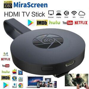 Drahtloser WiFi HDMI Dongle Empfänger 4K Display Adapter für IOS DLNA Miracast #