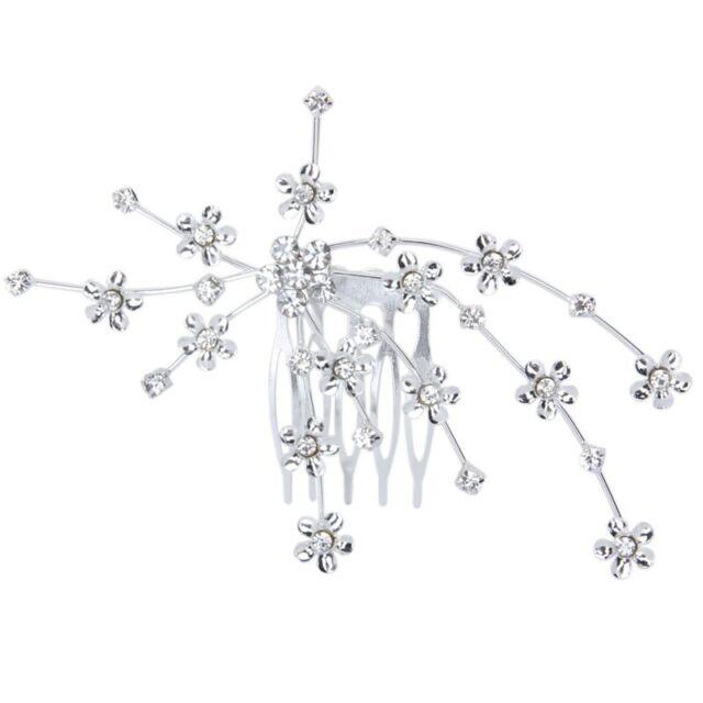Flower Comb Bridesmaid Crystal Rhinestone Style Wedding Tiara H6O6