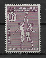 PHILIPPINES , USA , 1934 , BASKETBALL , SPORTS , 16c STAMP , PERF , MNH