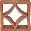 miniature 2 - 50 Formziegel Dekor Raute - Ornament Wand Terrakotta Screen Wall Breeze Block