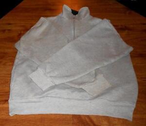 Windbreaker-Gray-Pullover-Sweatshirt-Medium-1-4-Zip-Up-Super-Fast-Shipping